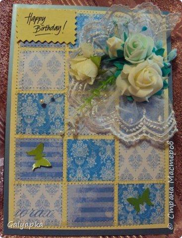 Открытки созданы по МК от марта 2011г. автора: Sveta Albert Использовала бумагу CAPSULE collection / Parisienne Blue фото 12
