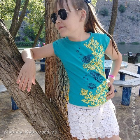Давненько не заглядывала я сюда) Это лето было довольно плодотворным в плане вязания) Итак, юбочка из хлопка крючком, модная, удобная и легкая фото 1