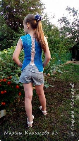 Давненько не заглядывала я сюда) Это лето было довольно плодотворным в плане вязания) Итак, юбочка из хлопка крючком, модная, удобная и легкая фото 7