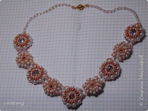 """""""Розовое чудо """". Ожерелье из разных сегментов ,6 разных деталей и магнитный замочек для удобства . фото 6"""