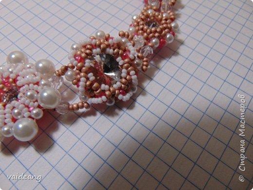 """""""Розовое чудо """". Ожерелье из разных сегментов ,6 разных деталей и магнитный замочек для удобства . фото 5"""