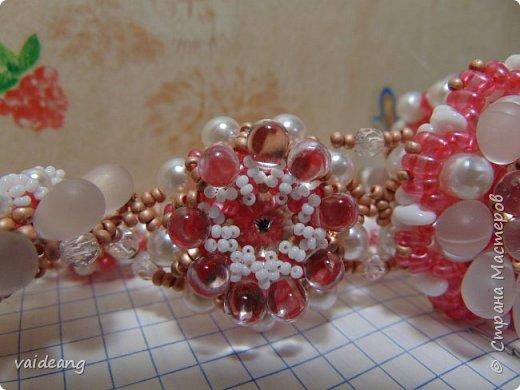 """""""Розовое чудо """". Ожерелье из разных сегментов ,6 разных деталей и магнитный замочек для удобства . фото 3"""