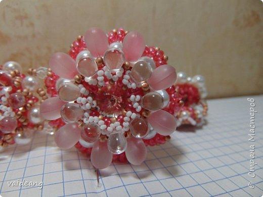 """""""Розовое чудо """". Ожерелье из разных сегментов ,6 разных деталей и магнитный замочек для удобства . фото 2"""
