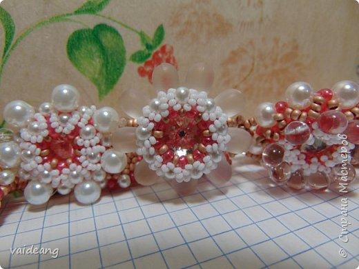 """""""Розовое чудо """". Ожерелье из разных сегментов ,6 разных деталей и магнитный замочек для удобства . фото 4"""