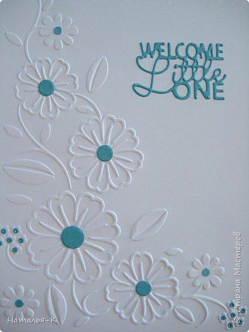 Доброе утро, день или вечер, всем кто заглянул ко мне в гости! Сегодня я пришла показать открытки для новорожденых деток. Бумага перламутровая  плотностью 220 гр. фото 5