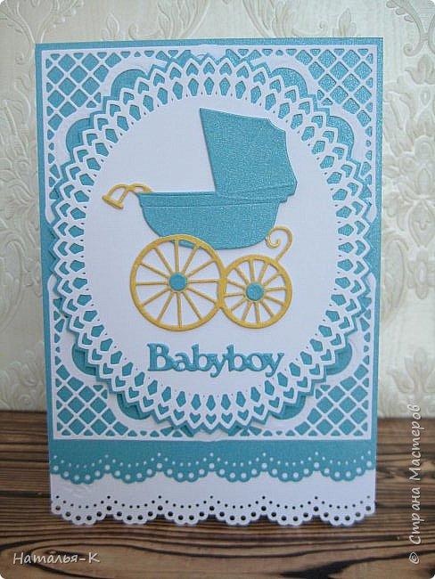Доброе утро, день или вечер, всем кто заглянул ко мне в гости! Сегодня я пришла показать открытки для новорожденых деток. Бумага перламутровая  плотностью 220 гр. фото 2