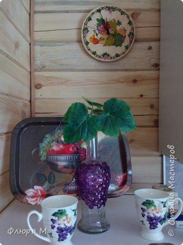Продолжение виноградной темы на кухне фото 2