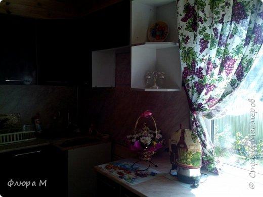 Продолжение виноградной темы на кухне фото 4