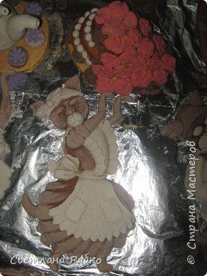 "Объёмная картина в технике солёное тесто Чаепитие ""Ваниль""  71см х 48 см. фото 6"