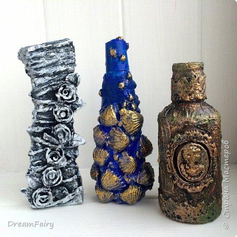 Простой декор бутылочек своими руками Мастер-класс