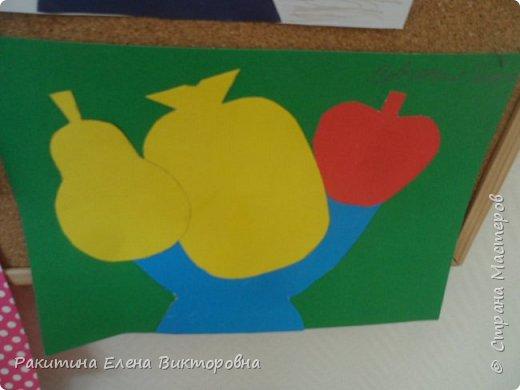 Всем добрый день! На уроке технологии мы с ребятами натюрморт из овощей и фруктов  изображали.  Вырезали по трафаретам, кто-то сделал объемные, кто-то плоскостными. Вот такие картины получились. фото 9