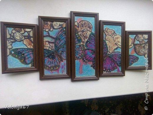 Модульная картина (Полиптих)Бабочки.