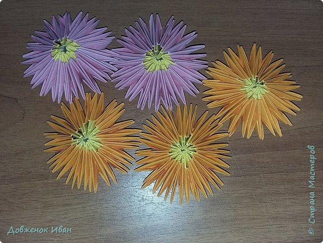 Попросили сделать небольшие цветочки ко дню учителя. Чтобы ими можно было оформить стенгазету.  Вот такой вариант цветочков у меня получился.