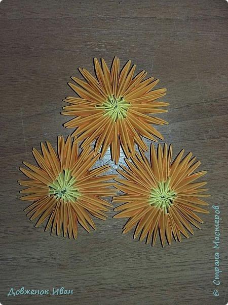 Попросили сделать небольшие цветочки ко дню учителя. Чтобы ими можно было оформить стенгазету.  Вот такой вариант цветочков у меня получился.  фото 3