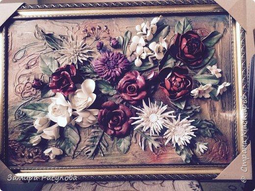 """Фрагмент картины :""""Летний сад"""".  Картина сделана в подарок племянице мужа, для нового дома в зал. Размер  80 на 60. Поэтому пришлось попотеть:)) Представляю Стране  на Суд. Если что- то заинтересовало,спрашивайте, обязательно отвечу. фото 3"""
