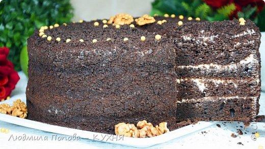 Ленивый шоколадный бисквит «Шоколад на кипятке» - Старый вкусный рецепт фото 2