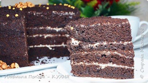 Ленивый шоколадный бисквит «Шоколад на кипятке» - Старый вкусный рецепт фото 1