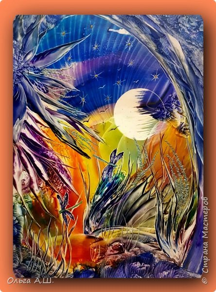 """Продолжаю эксперименты применения утюга для написания картин в стиле """"Абстракция"""". Немного переделанная, ранее выставленная картина. фото 1"""