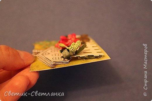 """Доброго времени суток всем жителям и гостям СМ! Хочу поделиться с Вами работами, сделанными мной для игры """"Времена года"""", организованной Полиной Молодцовой. По условиям игры нужно было сделать карточку АТС, календарь (любой, по своему желанию), письмо в оформленном конверте и подарок-сюрприз. Все работы должны соответствовать одному времени года. Я для себя выбрала лето, надеюсь, это видно, но на всякий случай уточняю ))) Итак, вот все 4 работы вместе.  фото 7"""