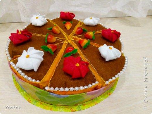 Торт из фетра фото 1