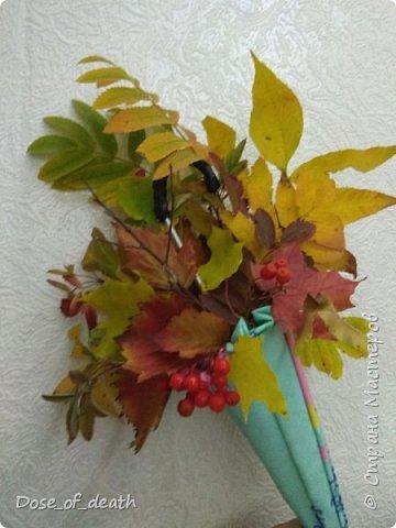 """Осень вдохновляет. Учит доченька песенку, а там текст: """"если выйдете гулять, не забудьте зонтик взять"""".. И вот решили мы сделать поделку в виде зонта.  фото 11"""