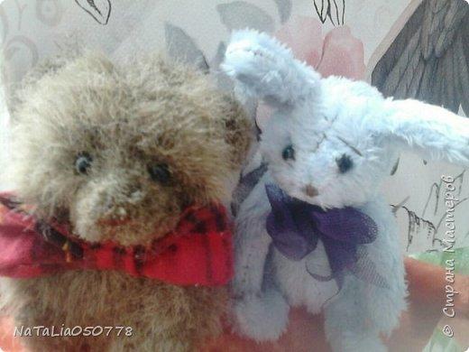 Плюшевый мишутка и зайчишка. фото 1