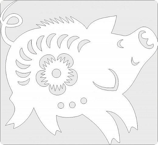 Наступающий 2019 - год Свиньи.  И, конечно, еще летом начались поиски шаблонов... Первым делом из своих запасов достала эту очаровательную  Хрюшку. Сделала шаблон и вырезала лапулю:) Потом еще делала шаблоны и много нашла их на просторах интернета...  Решила все сделанные и все найденные шаблоны поместить в сборник. Как делала это раньше... Год СОБАКИ (сборник шаблонов) https://stranamasterov.ru/node/1123859 Год ОБЕЗЬЯНЫ (сборник шаблонов) https://stranamasterov.ru/node/970958 фото 22