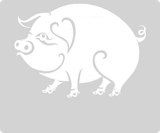 Наступающий 2019 - год Свиньи.  И, конечно, еще летом начались поиски шаблонов... Первым делом из своих запасов достала эту очаровательную  Хрюшку. Сделала шаблон и вырезала лапулю:) Потом еще делала шаблоны и много нашла их на просторах интернета...  Решила все сделанные и все найденные шаблоны поместить в сборник. Как делала это раньше... Год СОБАКИ (сборник шаблонов) https://stranamasterov.ru/node/1123859 Год ОБЕЗЬЯНЫ (сборник шаблонов) https://stranamasterov.ru/node/970958 фото 31