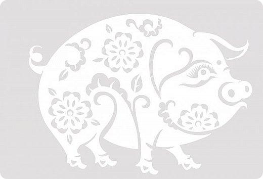 Наступающий 2019 - год Свиньи.  И, конечно, еще летом начались поиски шаблонов... Первым делом из своих запасов достала эту очаровательную  Хрюшку. Сделала шаблон и вырезала лапулю:) Потом еще делала шаблоны и много нашла их на просторах интернета...  Решила все сделанные и все найденные шаблоны поместить в сборник. Как делала это раньше... Год СОБАКИ (сборник шаблонов) https://stranamasterov.ru/node/1123859 Год ОБЕЗЬЯНЫ (сборник шаблонов) https://stranamasterov.ru/node/970958 фото 46