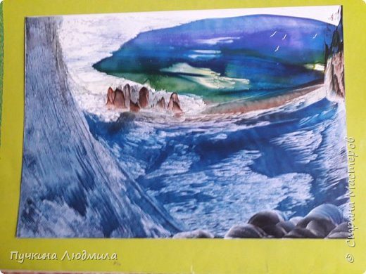 """И снова вода, вода........ кругом вода....нравится мне рисовать воду, обожаю...она такая разная и красивая....!!! Завораживает....  1. Это """"Ночь..."""" фото 2"""