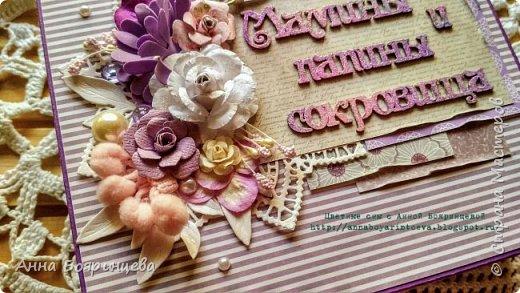 Всем привет!!! Сегодня покажу сокровища которые делала на заказ. Чип окрашен акриловыми красками и покрыт пудрой для эмбоссинга, цветочки покрыты глиттером, поэтому все переливается и блестит. фото 4