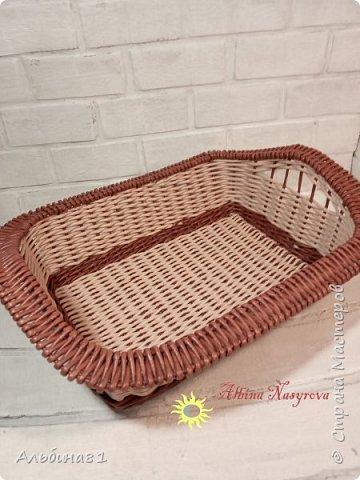 Всем привет! Последовали заказы на плетение корзинки для фруктов и приправницы.  фото 1