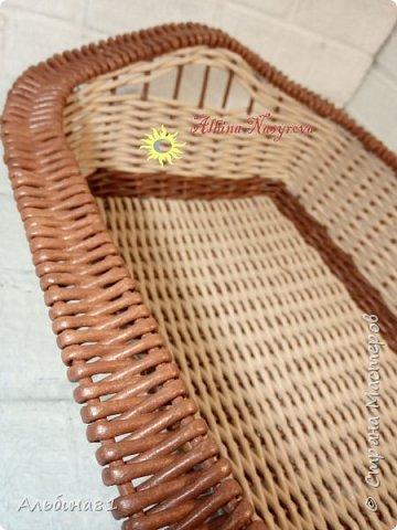Всем привет! Последовали заказы на плетение корзинки для фруктов и приправницы.  фото 4