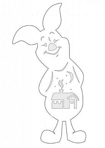 Наступающий 2019 - год Свиньи.  И, конечно, еще летом начались поиски шаблонов... Первым делом из своих запасов достала эту очаровательную  Хрюшку. Сделала шаблон и вырезала лапулю:) Потом еще делала шаблоны и много нашла их на просторах интернета...  Решила все сделанные и все найденные шаблоны поместить в сборник. Как делала это раньше... Год СОБАКИ (сборник шаблонов) https://stranamasterov.ru/node/1123859 Год ОБЕЗЬЯНЫ (сборник шаблонов) https://stranamasterov.ru/node/970958 фото 51