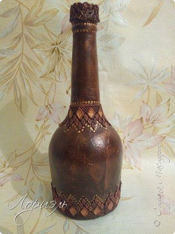 Вот такая бутылочка была сделана в подарок на день рождение подруге ,а почему только 2 рюмочки это маленький секретик...😁 фото 6