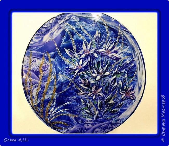 """Вот такие """"зимние """" цветы вашему вниманию. Хотелось их изобразить, как узоры на морозном окне. фото 2"""