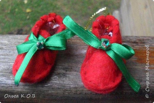 МИНИ- Обувь,варежки на елку фото 3