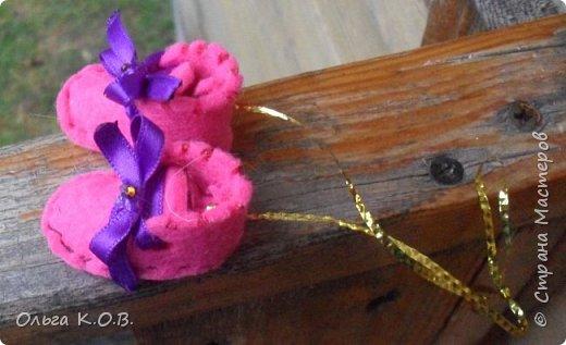 МИНИ- Обувь,варежки на елку фото 4