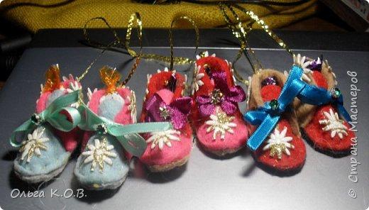 МИНИ- Обувь,варежки на елку фото 11