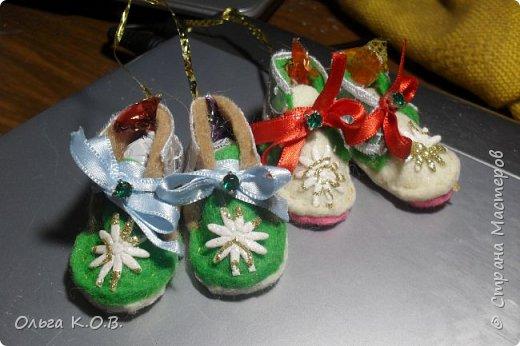 МИНИ- Обувь,варежки на елку фото 15
