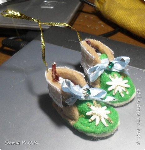 МИНИ- Обувь,варежки на елку фото 16