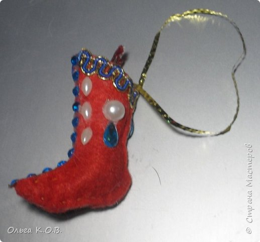 МИНИ- Обувь,варежки на елку фото 27