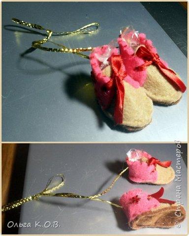 МИНИ- Обувь,варежки на елку фото 33