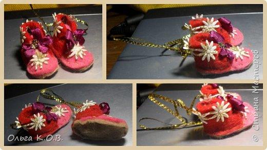 МИНИ- Обувь,варежки на елку фото 35