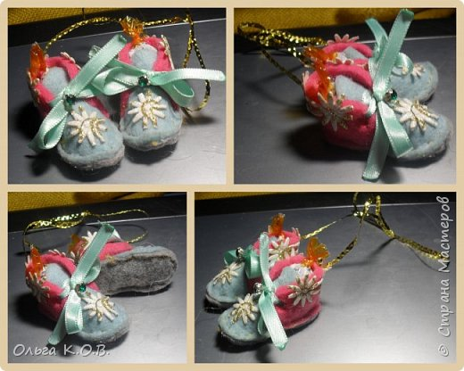МИНИ- Обувь,варежки на елку фото 36