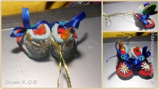 МИНИ- Обувь,варежки на елку фото 38
