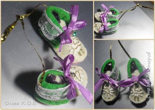 МИНИ- Обувь,варежки на елку фото 43