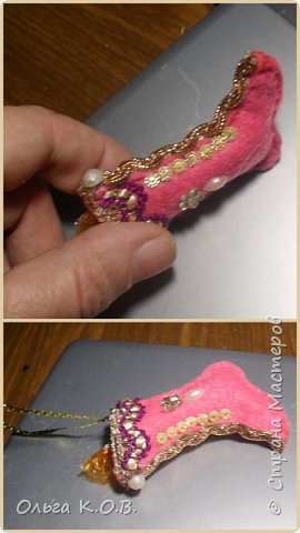 МИНИ- Обувь,варежки на елку фото 46