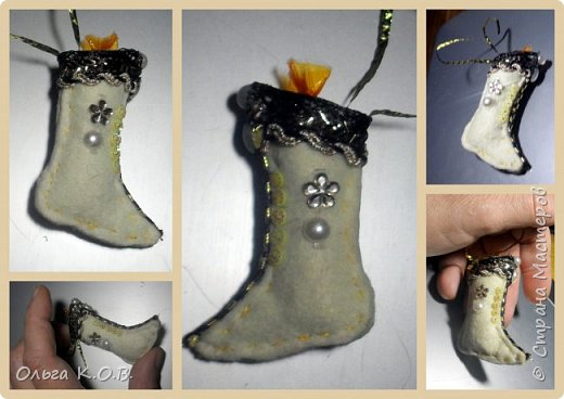 МИНИ- Обувь,варежки на елку фото 47
