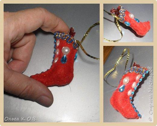 МИНИ- Обувь,варежки на елку фото 48